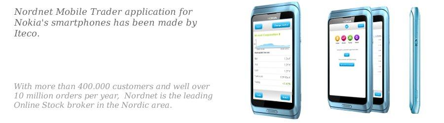 Front page slide of Nordnet app