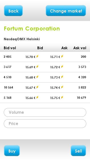 NordnetMobileTrader_Fortum_trading_screen