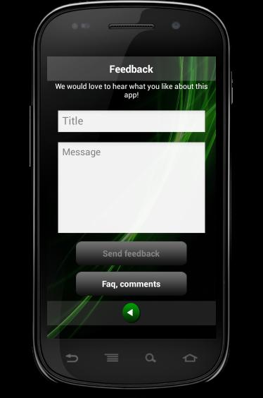 Feedback screen of countdown timer HopHopClock