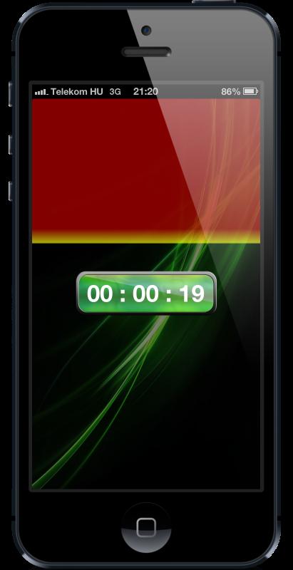 Countdown screen of countdown timer HopHopClock
