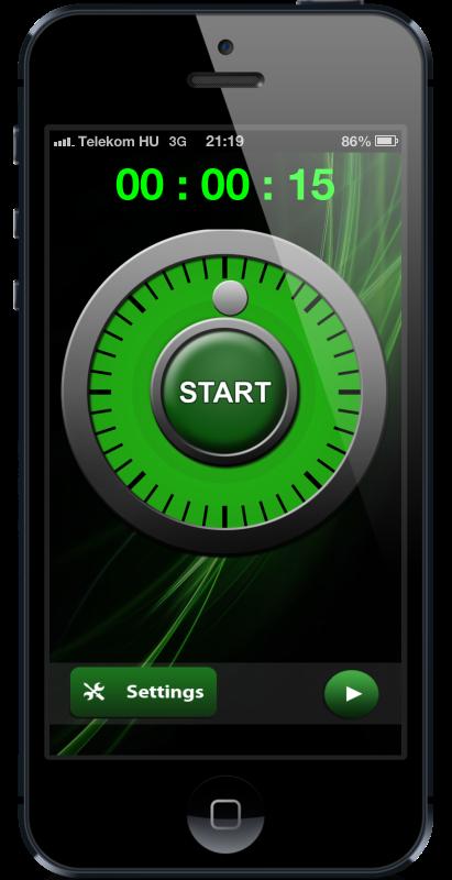 Dialer screen of countdown timer HopHopClock