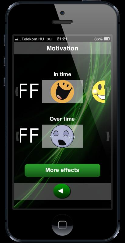 Motivation selection screen of countdown timer HopHopClock