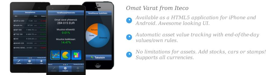 Front page slide of Omat Varat app